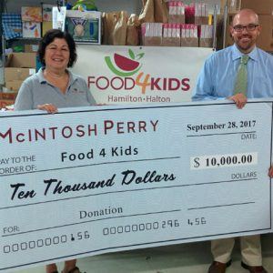 McIntosh Perry Donates to Food4Kids