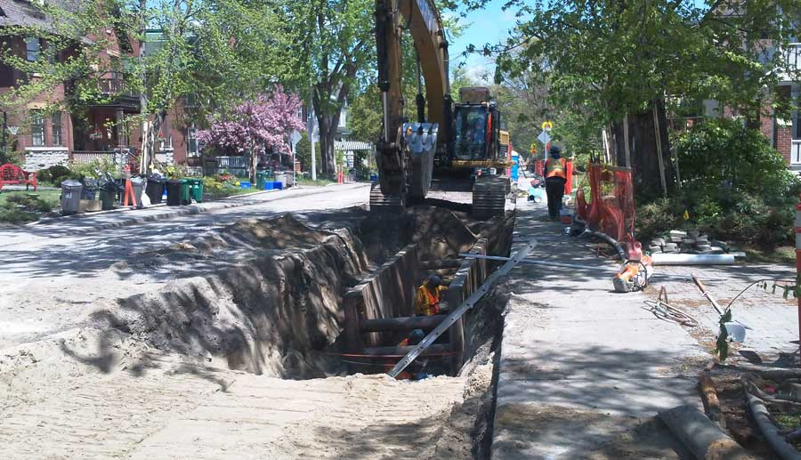 Fully integrated road reconstruction of First Avenue in the Glebe