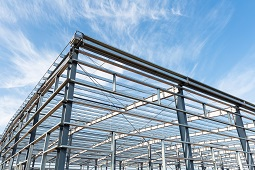 steel structure of a building