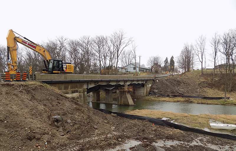 Stage 1 After Removal of East Side of Bridge